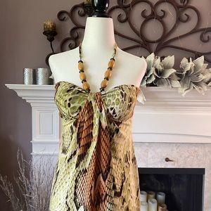 Suzy Shier Snakeskin Print Dress